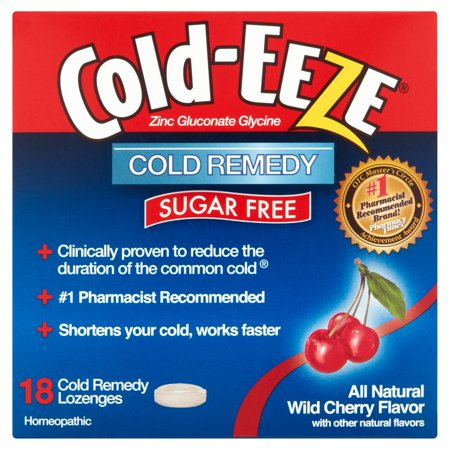 Cold-Eeze Wild Cherry Flavor Cold Remedy Lozenges, 18 count