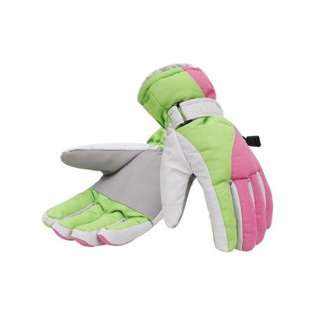 - Women's Winter Waterproof Outdoor Snowboard Ski Gloves,S, Pink Green