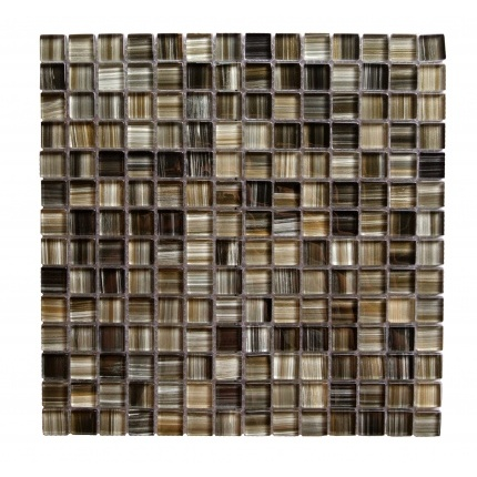 "Abolos Handicraft II 0.75"" x 0.75"" Glass Mosaic Tile in Black Sea (15sqft , 15pc Box)"