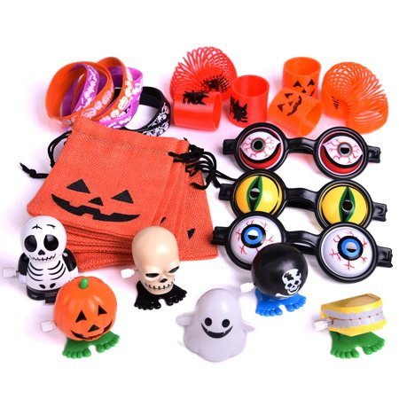 72PCS Halloween Party Supplies Toy Assortment Goody Bags for Kids' Trick-or-Treat Party Favor,Prefect Halloween Party Ideas F-188