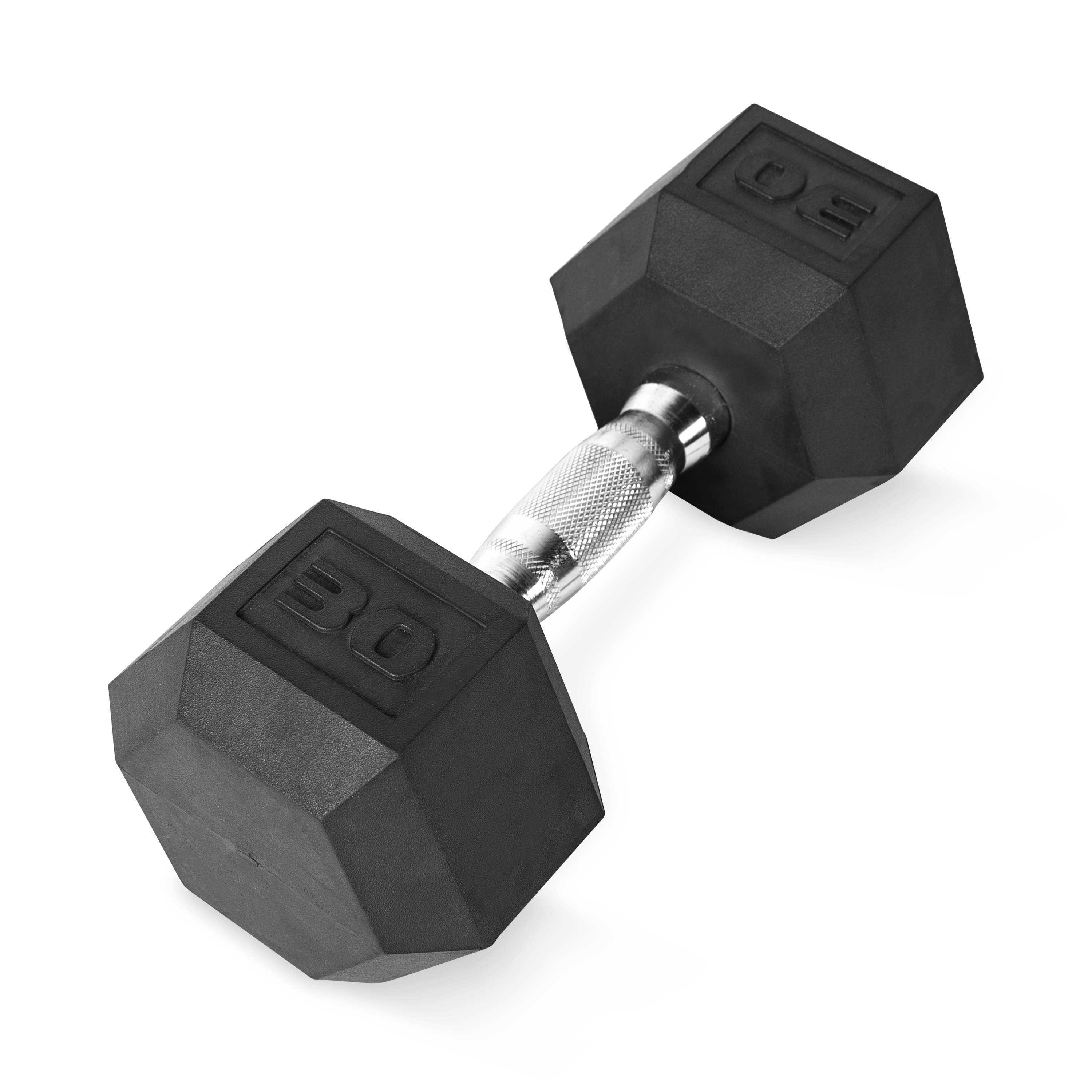 SINGLE CAP 30 lb Rubber Coated Hex Dumbell BRAND NEW