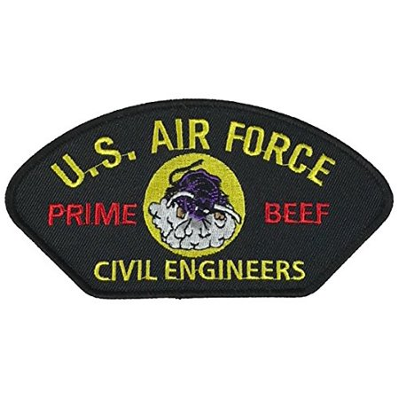 Air Force Civil Engineer (US AIR FORCE PRIME BEEF CIVIL ENGINEERS PATCH - COLOR - Veteran Owned Business)