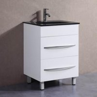 Belvedere 24 in. Modern Freestanding Single Bathroom Vanity with Faucet