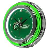 "NCAA University of North Carolina Charlotte 14"" Neon Wall Clock"
