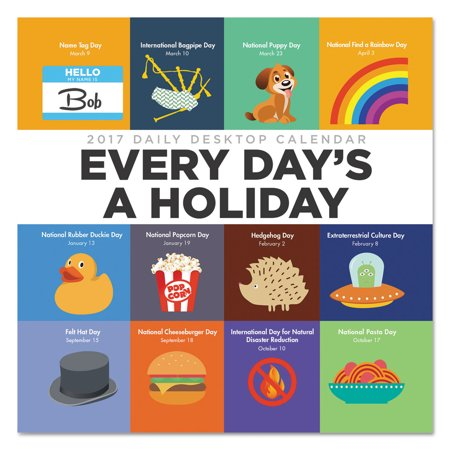Every Days A Holiday Box Calendar  5 1 2 X 5 1 2  2017
