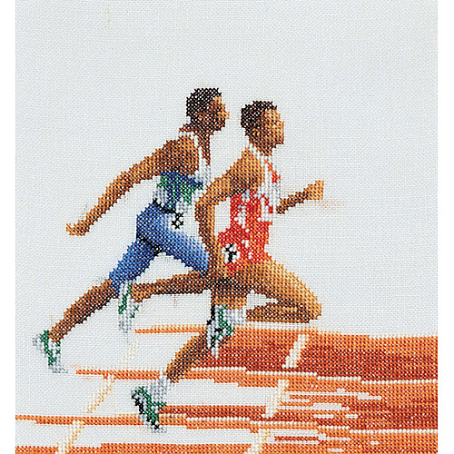 Thea Gouverneur Linen Counted Cross-Stitch Kit, Athlete Runner