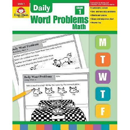 Evan-Moor Educational Publishers 3001 Daily Word Problems, Grade 1