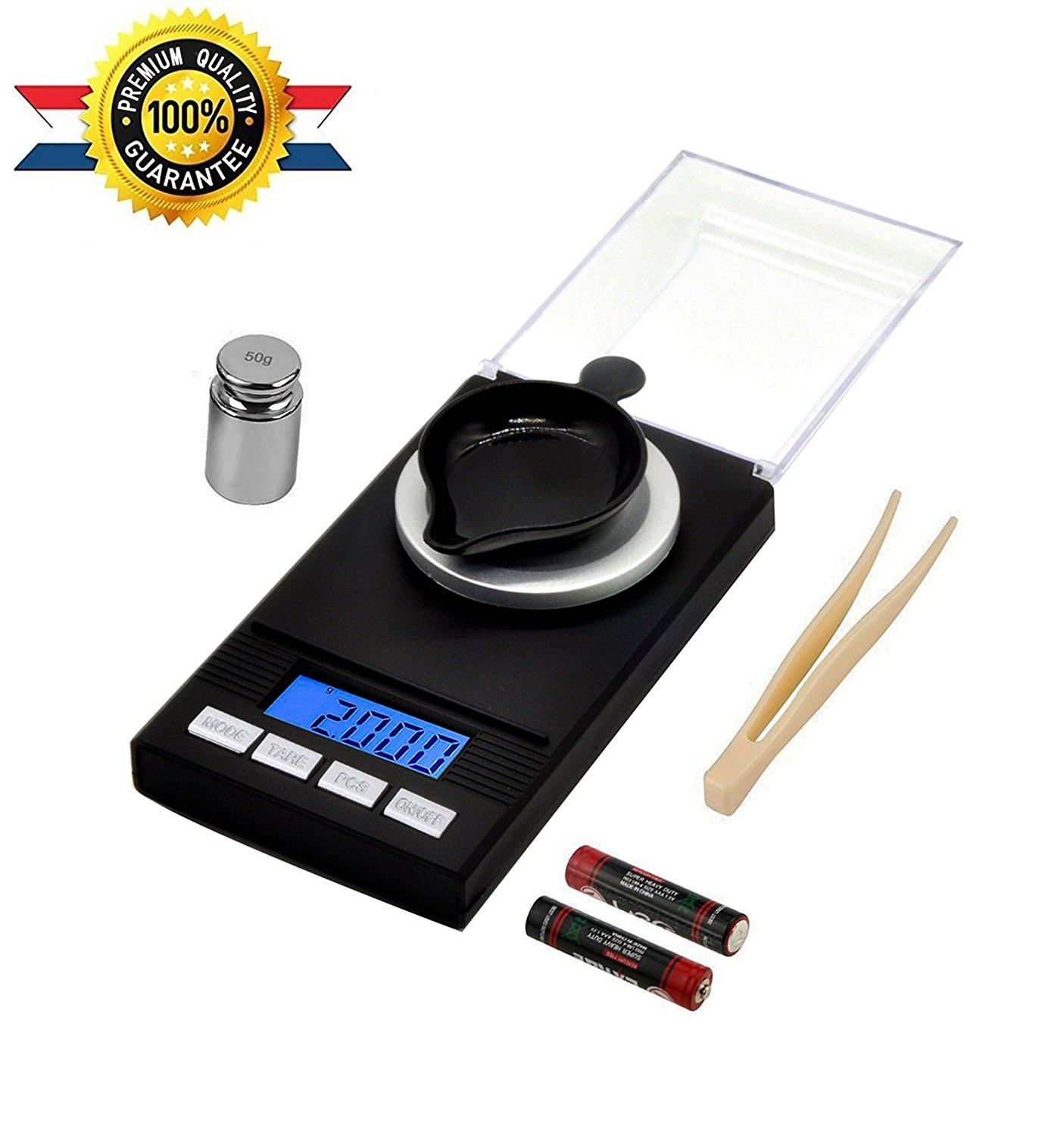 Digital Milligram Scale 50 X 0.001g - Reloading Jewelry Scale Digital Weight  Mini LCD Pocket