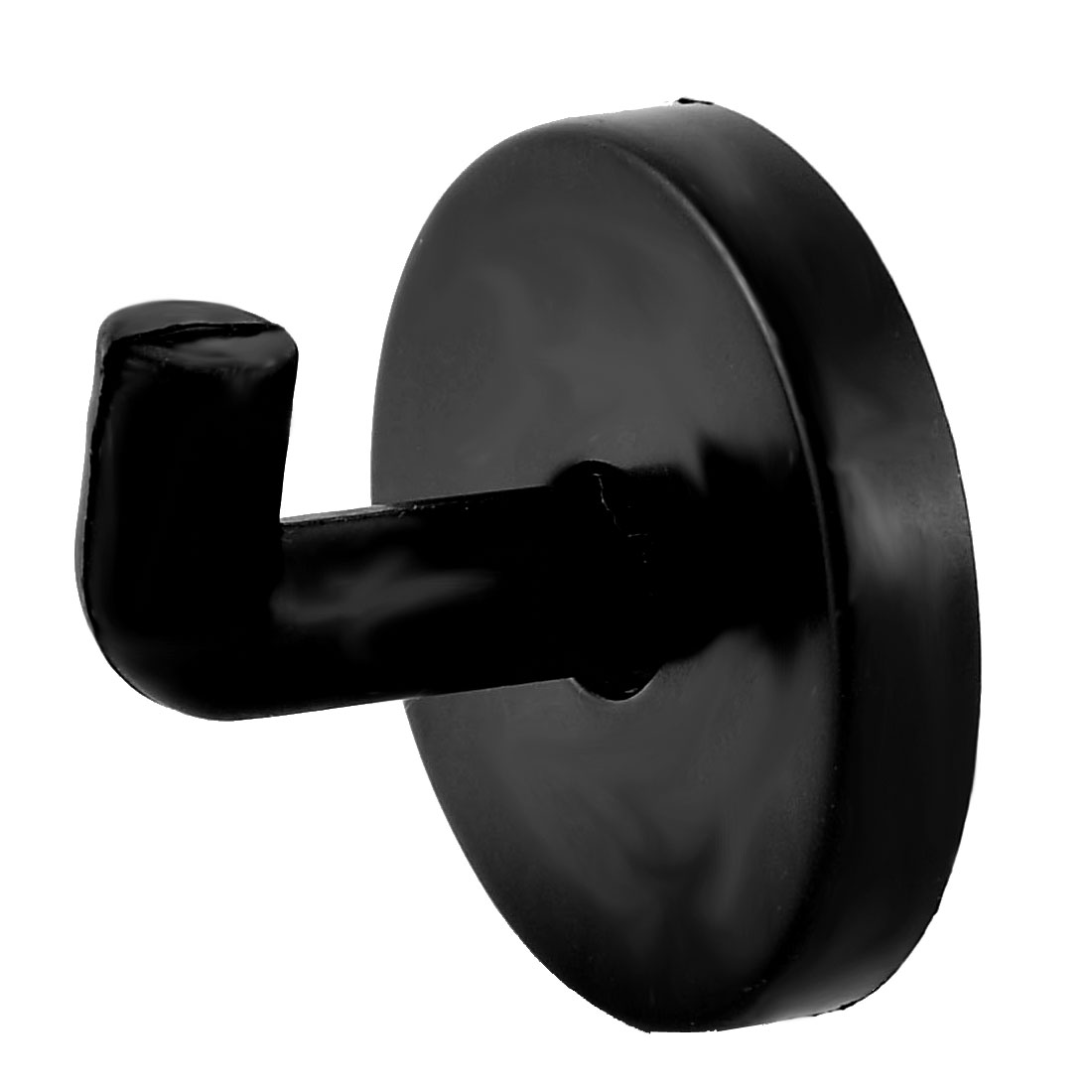 Plastic Round Bathroom Toilet Clothes Hat Coat Handbag Hook Hanger Black 4pcs - image 1 of 4