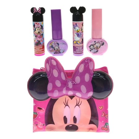 TownleyGirl Townley Disney Minnie Mouse Bowtique Cosmetics Set (5pc Set)  Novelty Character Kids Makeup