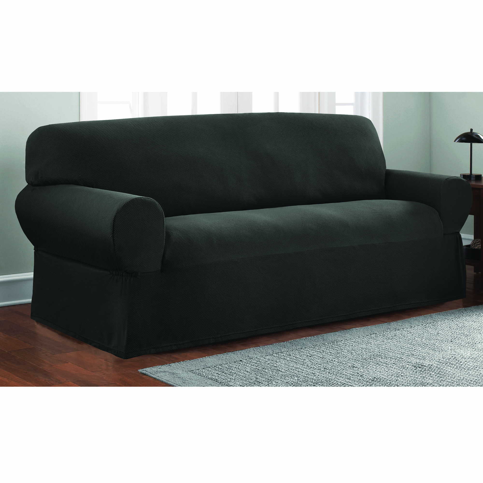 Mainstays 1 Piece Stretch Fabric Sofa Slipcover