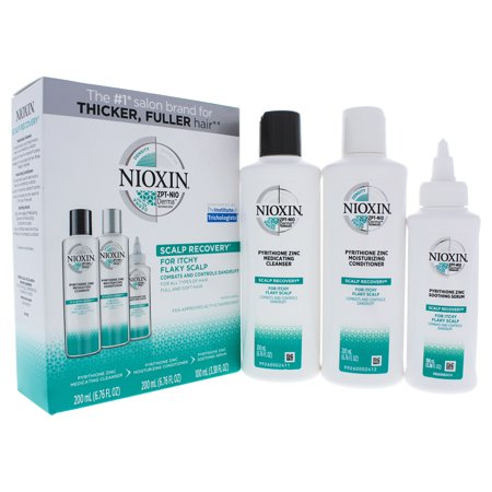 Nioxin Scalp Renewal (Scalp Recovery Kit by Nioxin for Unisex - 3 x 6.8 oz Cleanser, Moisturizing Conditioner, Soothing Serum )