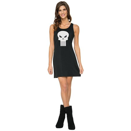 Rubies Marvel Universe Classic Punisher Tank Dress Costume, Black, Medium