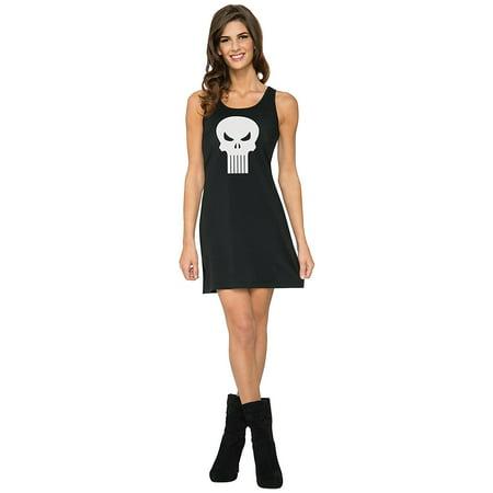 Rubies Marvel Universe Classic Punisher Tank Dress Costume, Black, Medium