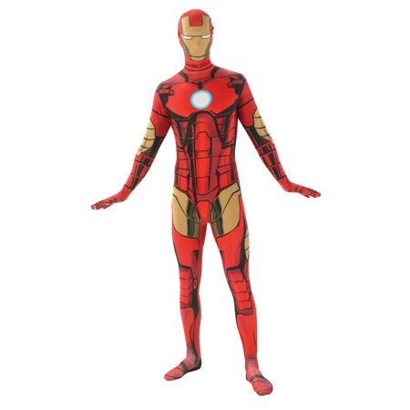 Mens Iron Man Second Skin Halloween Costume