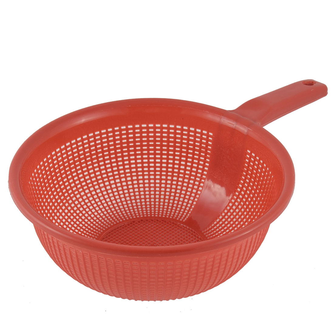 Kitchenware Drain Plastic Round Wash Rice Fruit Vegetable Sieve Basket Red
