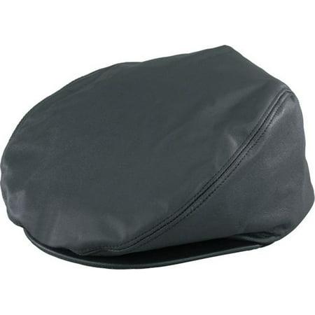 Henschel Black 3 Point Genuine Leather Driving Cap