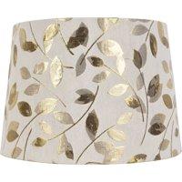 Lamp shades walmart better homes and gardens metallic leaf round hardback shade aloadofball Image collections