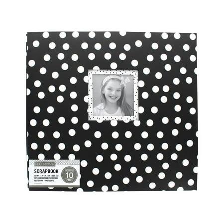 K&Co Scrapbook 12x12 window Dots -