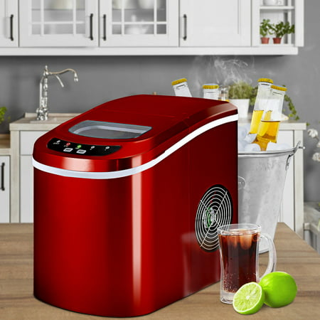 Costway Portable Compact Electric Ice Maker Machine Mini Cube 26lb / Day Red - image 8 of 10