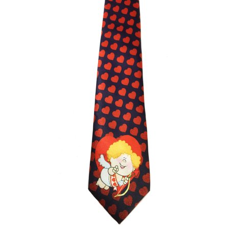 - Stonehouse Collection Men's Valentine's Day Tie - Fun Heart Pattern Necktie