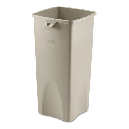 Rubbermaid Commercial FG356988BEIG Untouchable Square Trash Can, Beige, 23 Gallons Gallon Commercial Trash Can