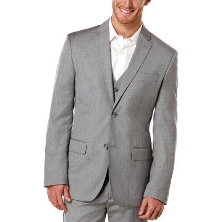 Perry Ellis Mens Big & Tall Herringbone Notch Collar Two-Button Blazer
