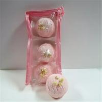 Dead Sea Spa Care DeadSea-BBTAL01 Cherry Almond Bubble Bath Truffles - Pack of 3