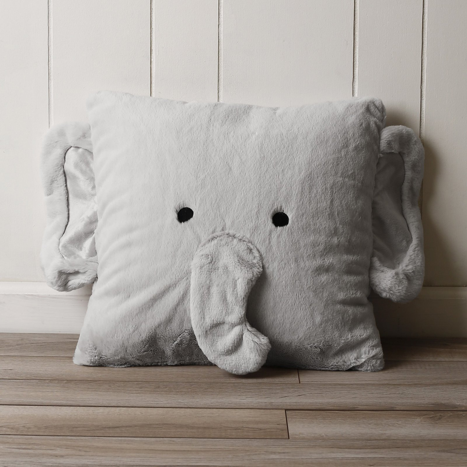 Best Home Fashion Faux Fur Plush Elephant Pillow