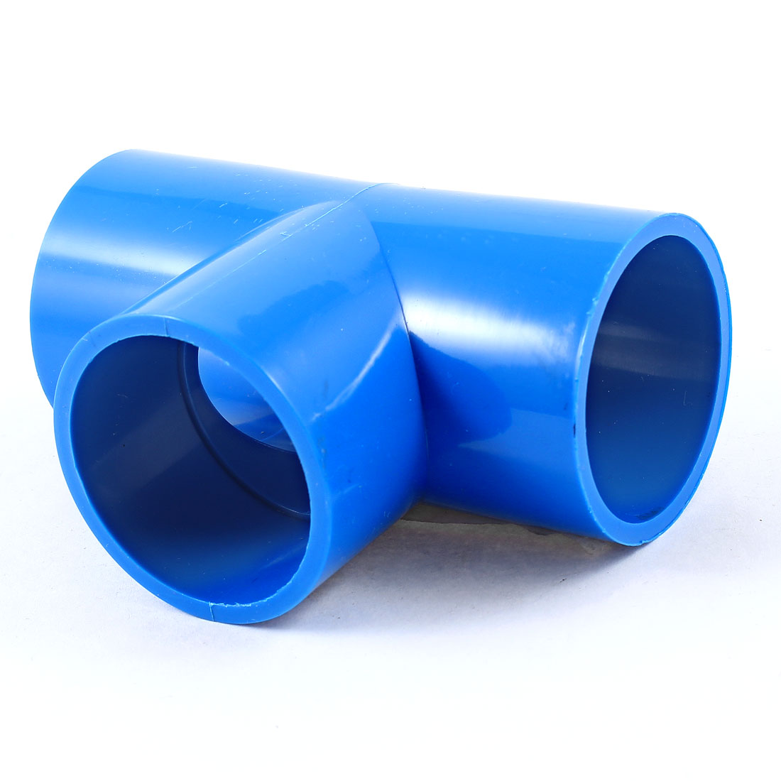 Unique Bargains 40mm Dia T Type PVC-U Conduit Pipe Fitting Connector Blue