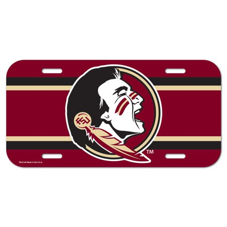 - Florida State Seminoles Official NCAA 6 inch  x 12 inch  Plastic License Plate by WinCraft