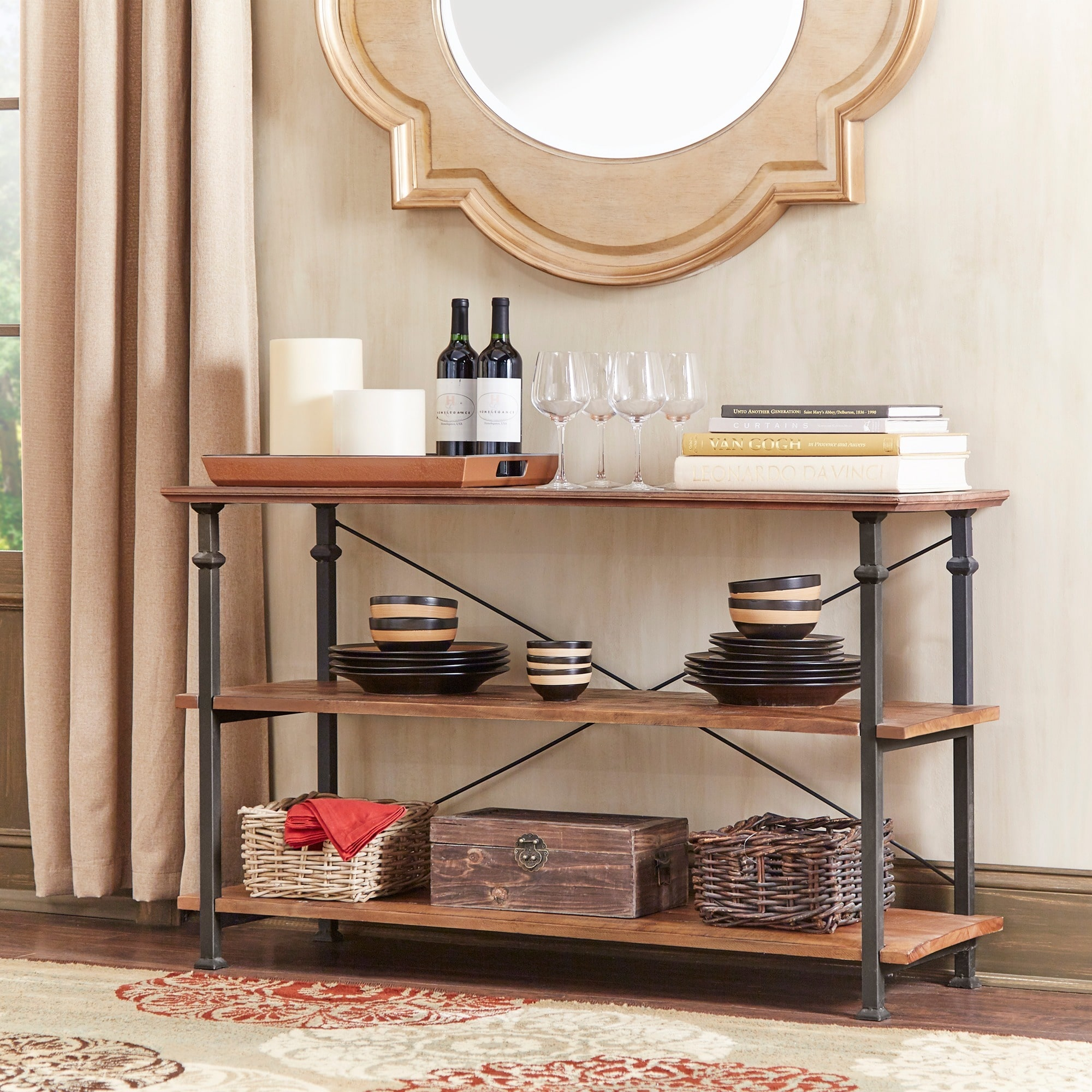 Tribecca Home Myra Vintage Industrial Tv Stand By Walmart Com
