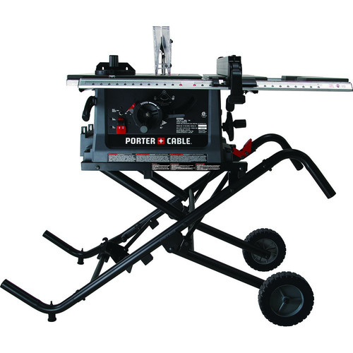 Porter Cable PCB222TS 15 Amp 10 In. JobSite Table Saw With Fold And Roll  Stand