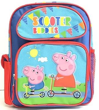 "Small Backpack - Peppa Pig - Scooter Buddies 12"" School Bag New 122816"