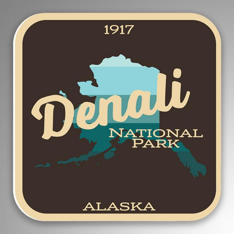 2-Pack Denali National Park Decal Sticker4-Inches By 4-Inches