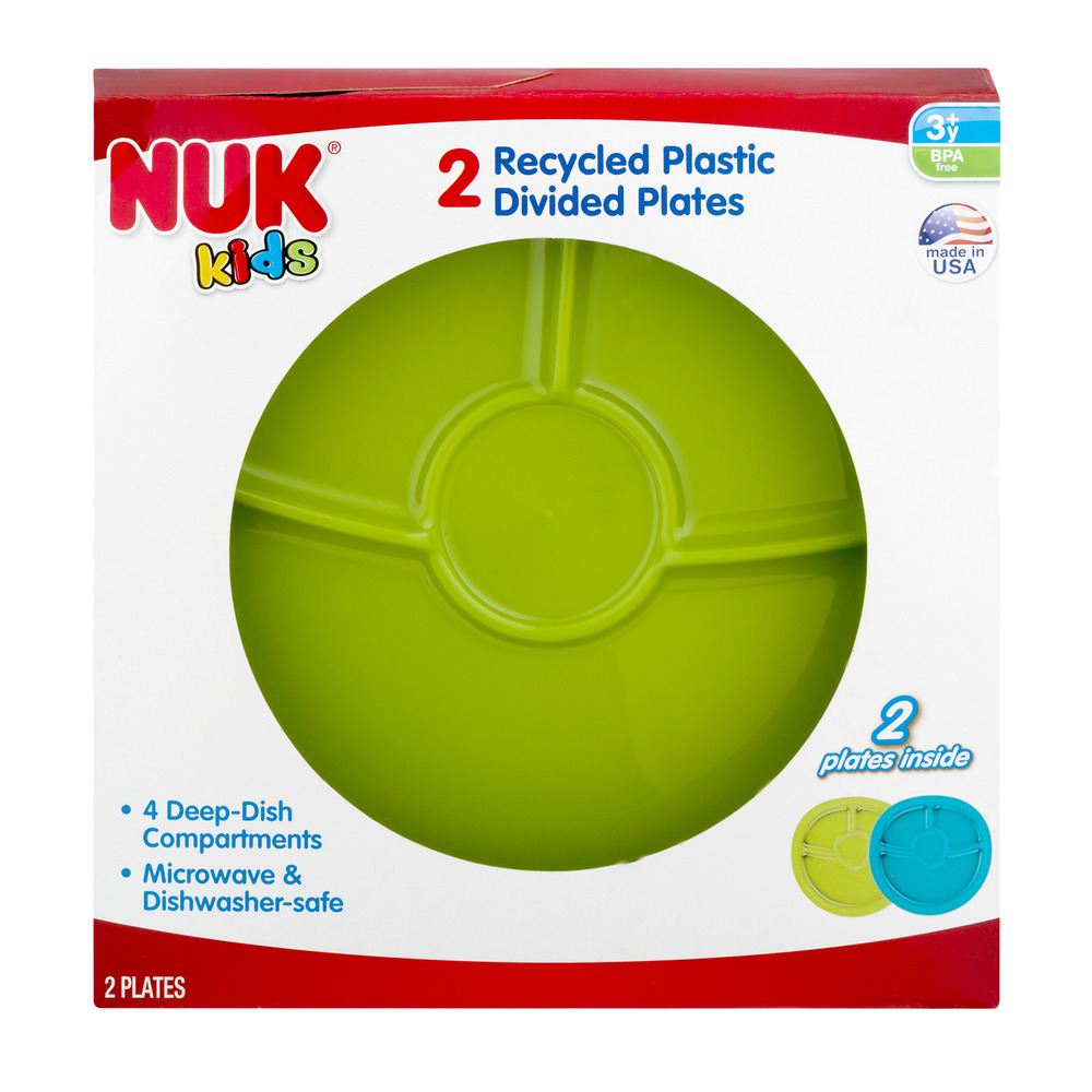 NUK Kids Recycled Plastic Divided Plates - 2 CT  sc 1 st  Walmart.com & NUK Kids Recycled Plastic Divided Plates - 2 CT - Walmart.com