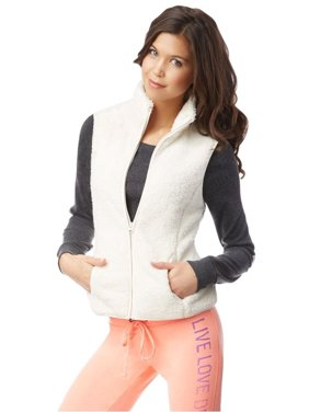 Aeropostale Juniors Fuzzy Fz Fleece Vest