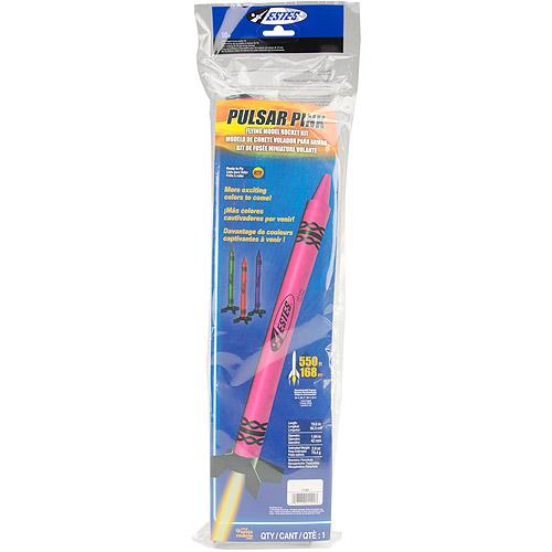 Estes Flying Model Rocket Kit, Pulsar Pink