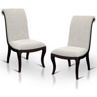 Furniture of America Raelynne Transitional Dining Chair, Espresso, Set of 2