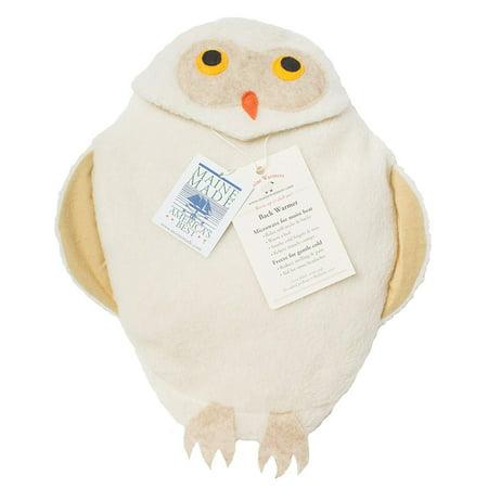 Maine Warmers Owl Microwave Body Warmer - Corn Filled Heating Pad - Heat or Freeze! (Owl Heating Pad)
