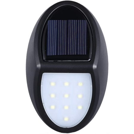 NEW Outdoor LED Solar Powerful Light Wall Mount Garden Path Fence Courtyard Lamp