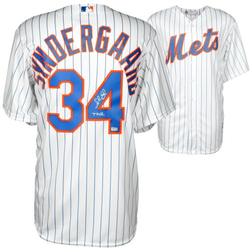 Noah Syndergaard New York Mets Fanatics Authentic Autographed White Replica Jersey with Thor Inscription - No Size