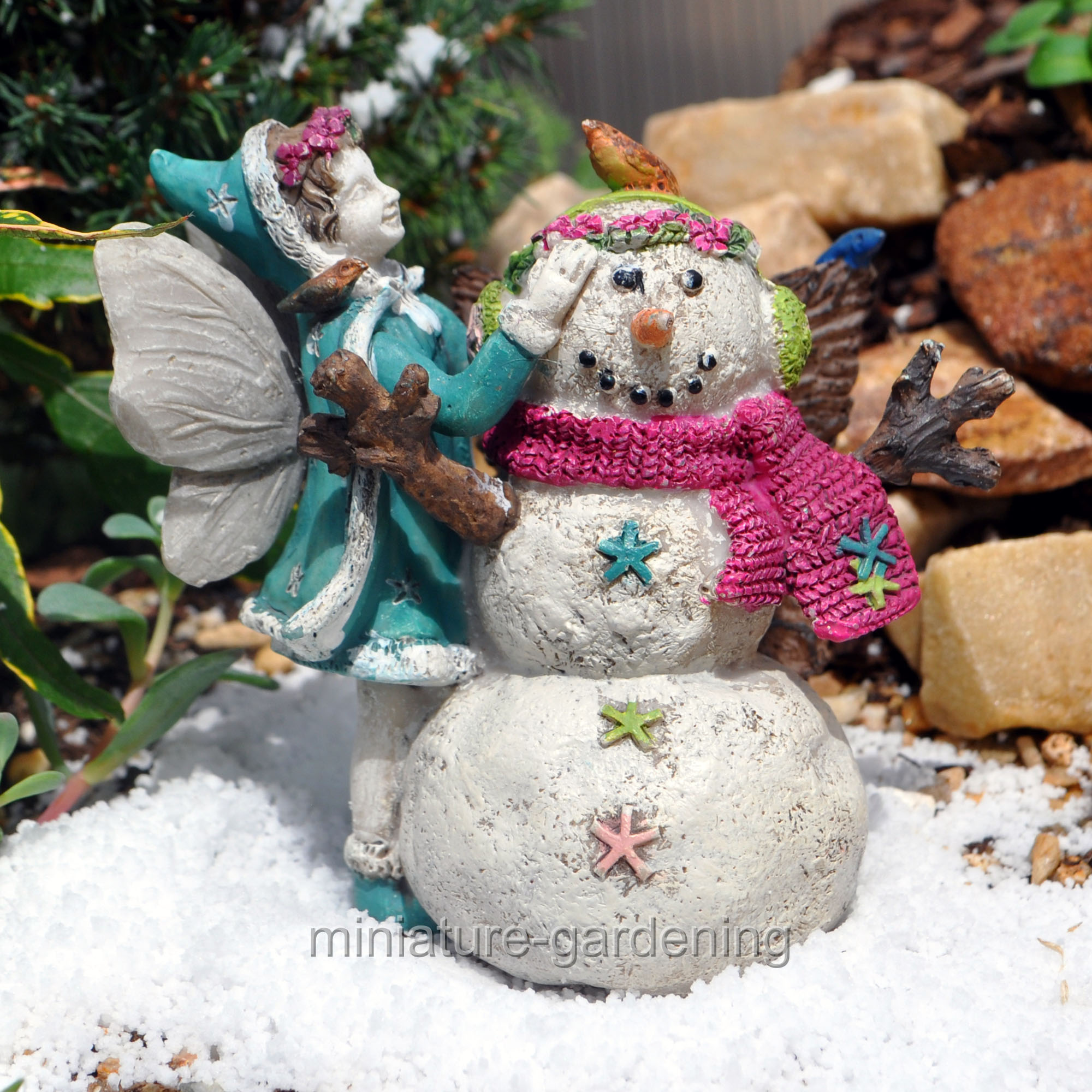 Wholesale Fairy Gardens Aubrey's First Snowman for Miniature Garden, Fairy Garden
