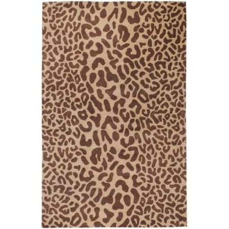 Animal Print Rug 8x10 This Leopard Wool Area Is Hand Tufted In A Neutral Brown And Tan Color Scheme Rugs