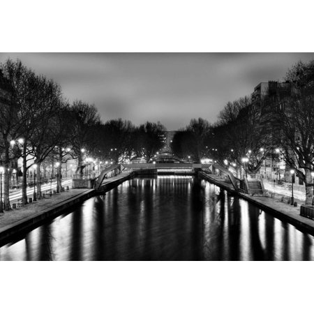 View of the Canal Saint-Martin - Paris - France Print Wall Art By Philippe