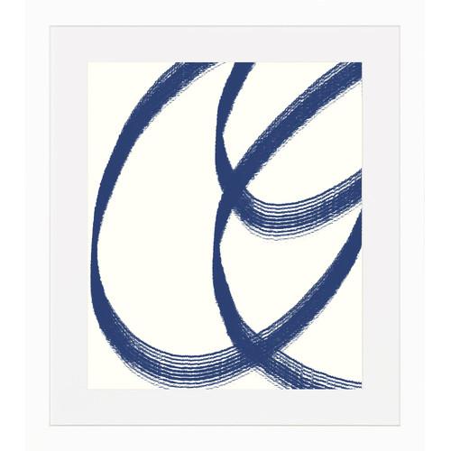 Art Virtuoso Blue Lines Framed Painting Print by Art Virtuoso