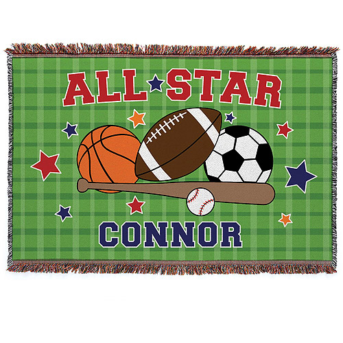 Personalized All Star Throw Blanket