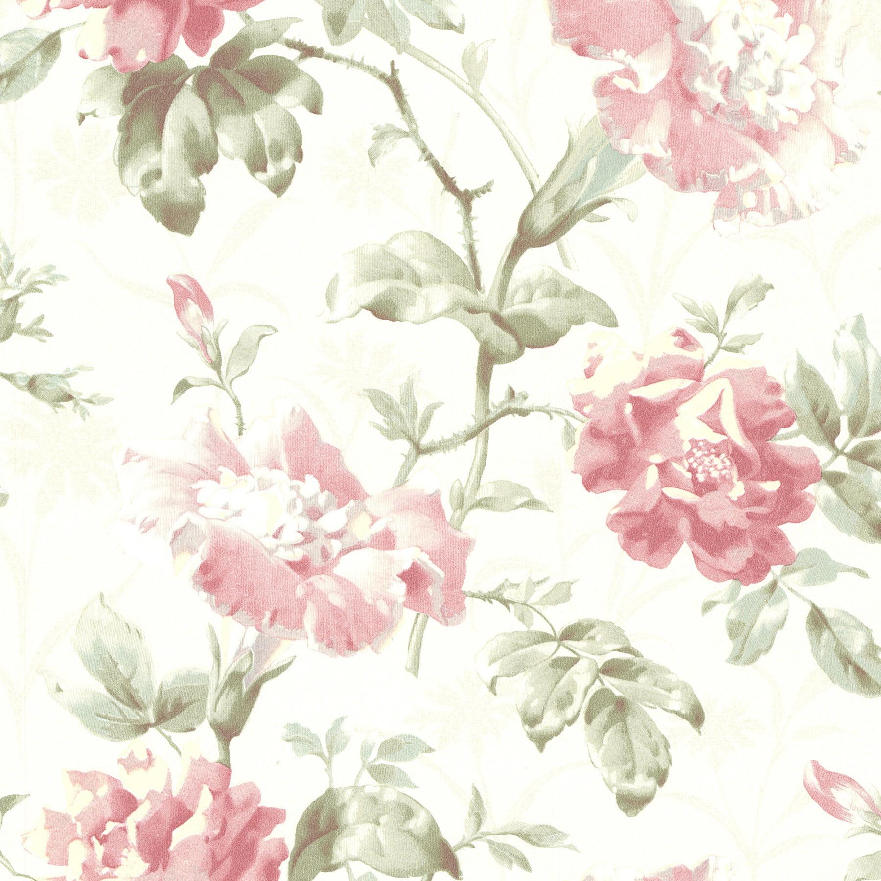 Beacon House Juliana Rose Vintage Floral Wallpaper Walmart Com