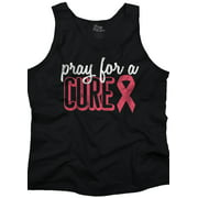 Brisco Brands Pray For A Cure BCA Support Tank Top T-Shirt For Women