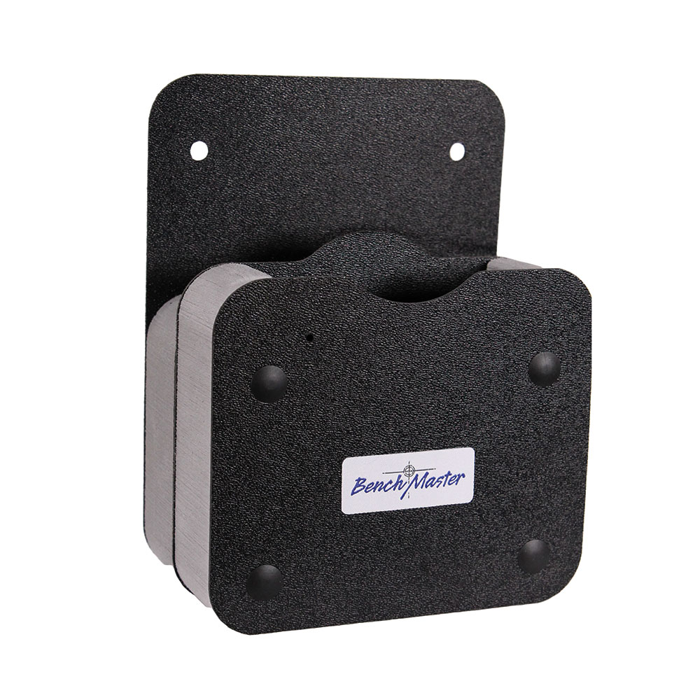 Benchmaster Single Gun Rack with Front Accessory Holder, Black